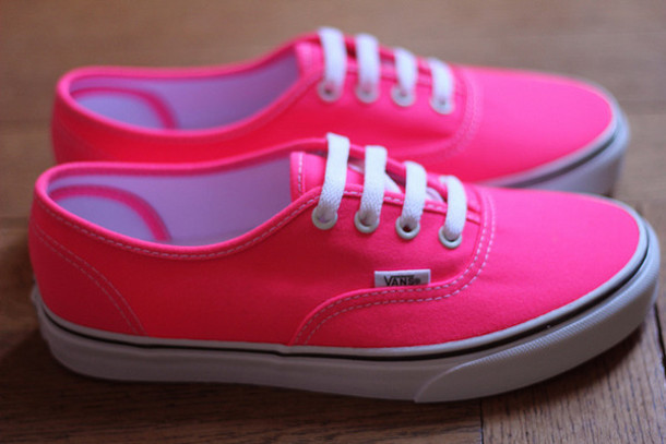 shoes pink vans vans phosphorescent pink 365081037
