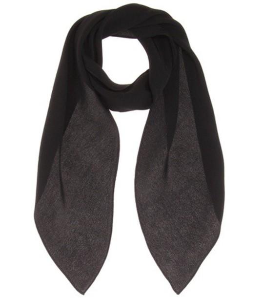 Chloé Silk Scarf in black