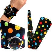 jewels,cotton strap,soft watch,designer watch,watch,unusual watch,unique watch,bright watch,colourful watch,funny watch,ziziztime,ziz watch