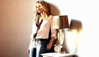 shirt blouse kate moss mango black and white blouse
