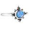 Winter solstice ocean blue opal ring