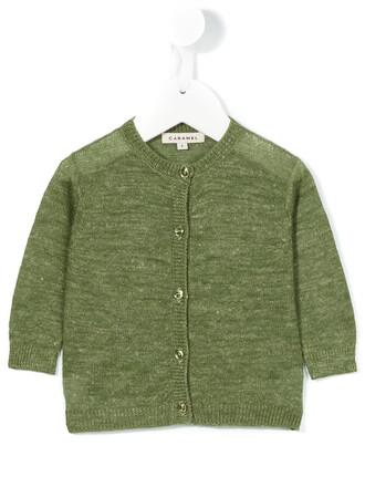 cardigan girl baby toddler green sweater