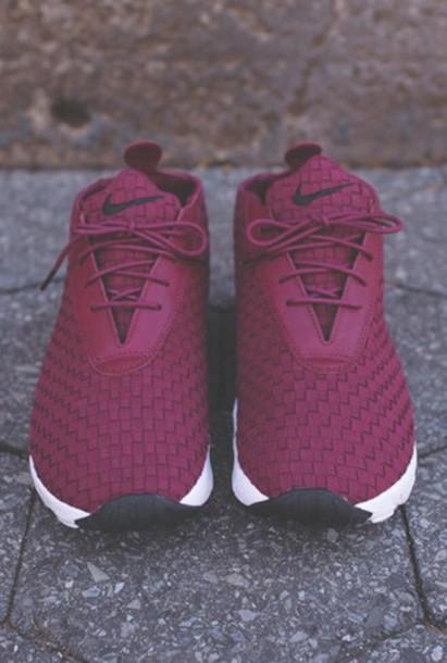 nike, nike sneakers, sneakers, burgundy