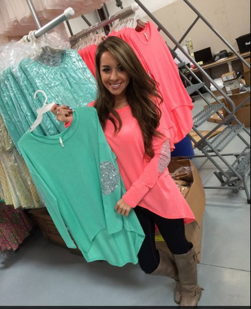 coral mint ivory white tunic high low glitter sequins sparkle elbow patch loose long sleeves tunic top tunic blouse high low sparkle top sparkle sexy sweater sequins elbow patches elbow patches elbow patches patched elbows flowy loose loose loose top loose shirt loose fitting top loose-fitting style loose oversized sweater oversized t-shirt oversized shirt oversized blouse