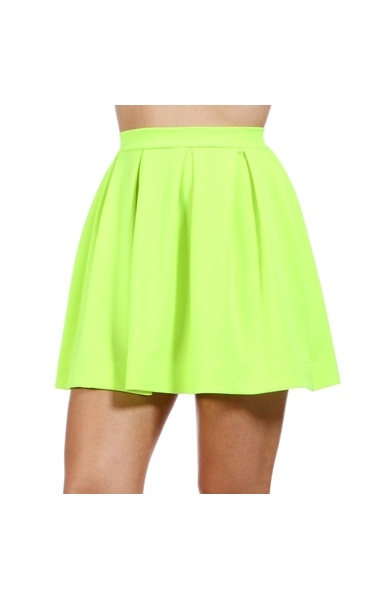 e62f2729fa Uba Scuba Neon Skater Skirt In Lime Green - from The Fashion Bible ...