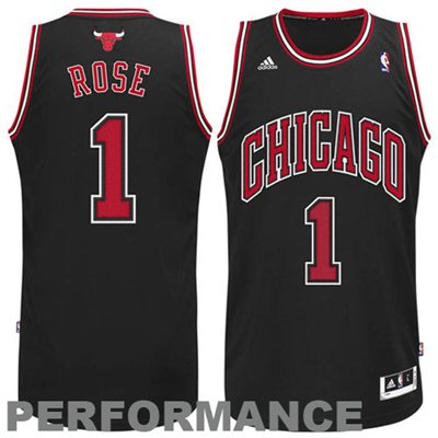 separation shoes e9f54 e7b83 adidas Derrick Rose #1 Chicago Bulls Revolution 30 Swingman Performance  Jersey - Black - NBA Store