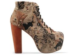 Jeffrey campbell lita in cat tapestry at solestruck.com