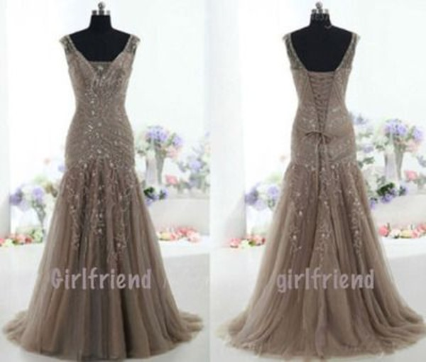dress gown neutral