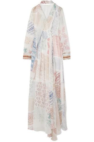 gown chiffon white silk dress