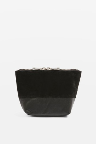 Topshop bag leather black