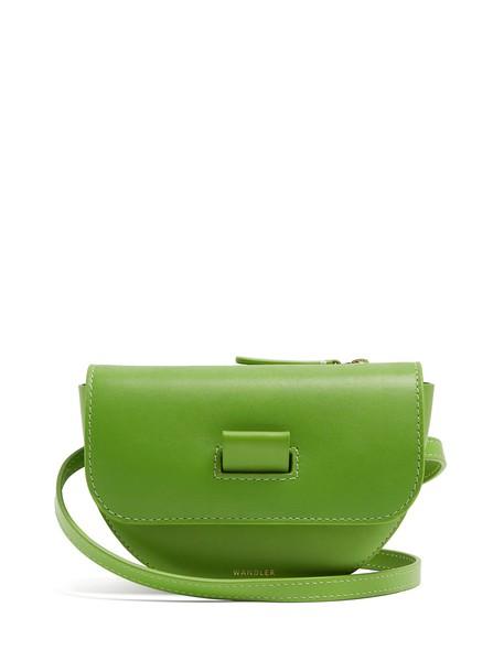 Wandler belt bag bag leather green