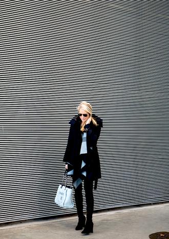 krystal schlegel blogger jacket scarf shoes sweater