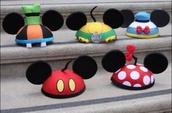 hat,disney,ear hat,minnie mouse,goofy,pluto