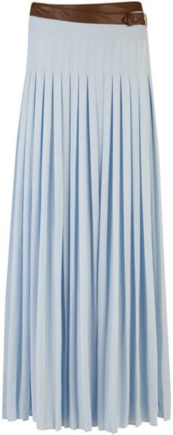 Ted Baker Galva Pleated Maxi Skirt in Blue (light blue) | Lyst