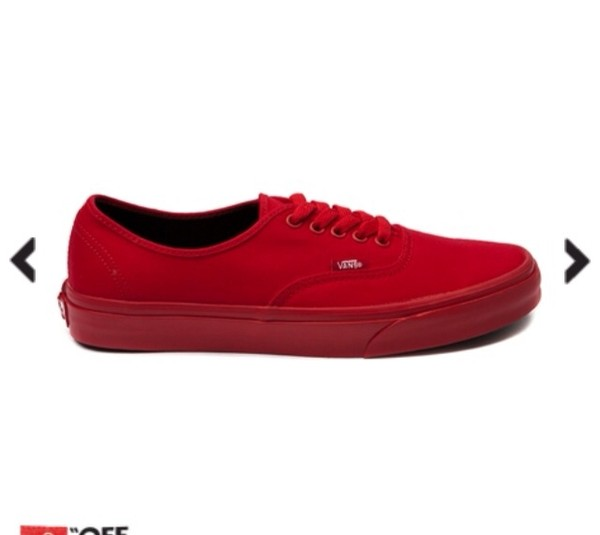 shoes red vans