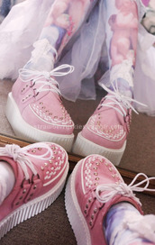 shoes,creepers,pastel,kawaii,pink