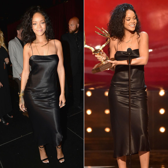 rihanna silk dress