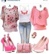 belt,jeans,bag,pastel,pink,sweet