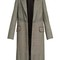 Prince of wales-checked padded-shoulder wool coat