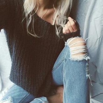 sweater black pull