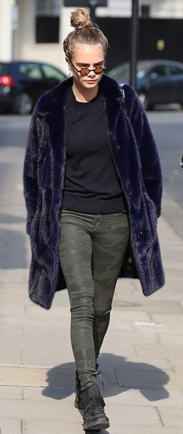 Jeans: pants, military style, cara delevingne, fashion ...
