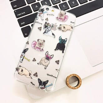 phone cover yeah bunny frenchie dog pugs dogs lover cute cover iphone