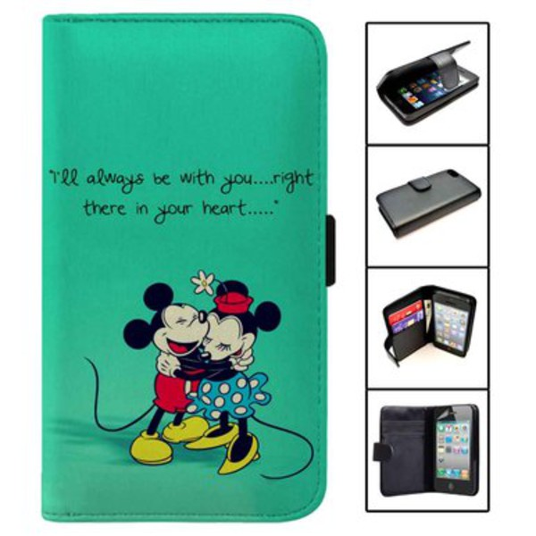 more photos 31190 8aaee Mickey and Minnie Love Quotes wallet case for iphone 4,4s,5,5s,5c,6 and  samsung galaxy s3,s4,s5