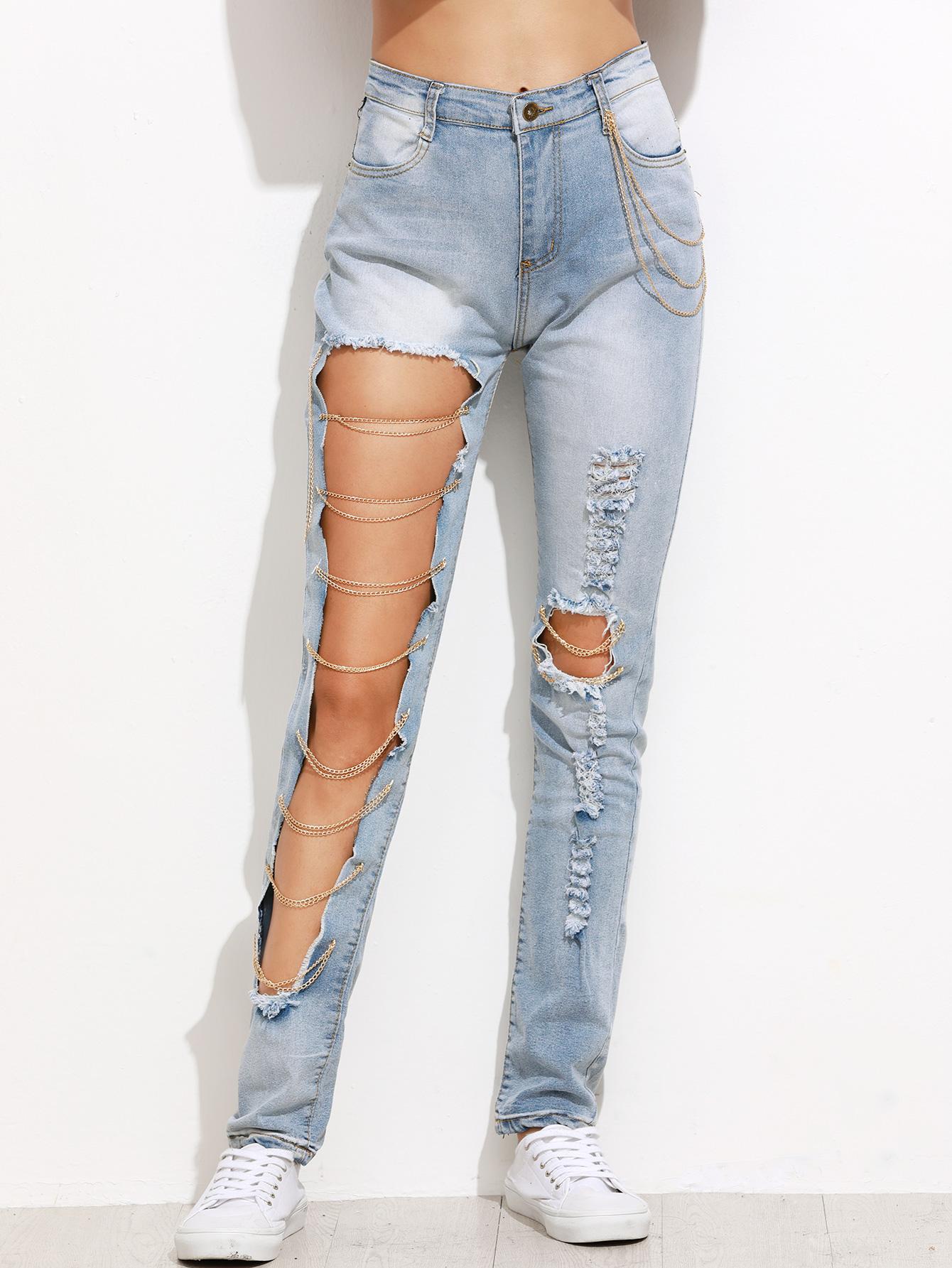 Как делать рваные джинсы фото
