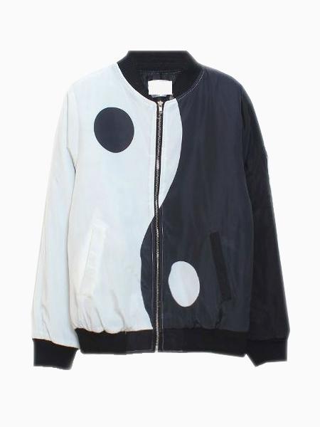 New Look Winter YIN YANG Bomber Jacket | Choies