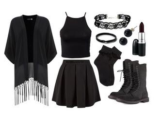 cardigan black clothes cute grunge shoes skirt socks shirt