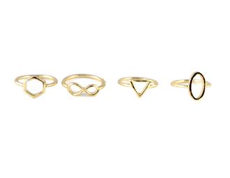 jewels ring set geometric geometric ring infinity ring ring knuckle ring infinity midi ring