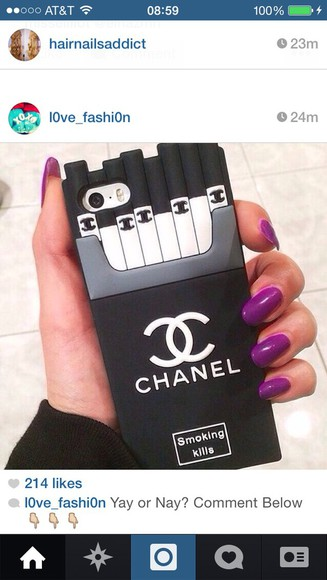 phone case chane smoking kills cigarettes jacket