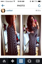 dress,backless dress,striped dress,open back,open back dresses,long dress,long black dress