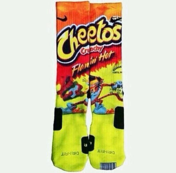 7a7f4469569224 shoes socks cheetos nike elite space basketball socks