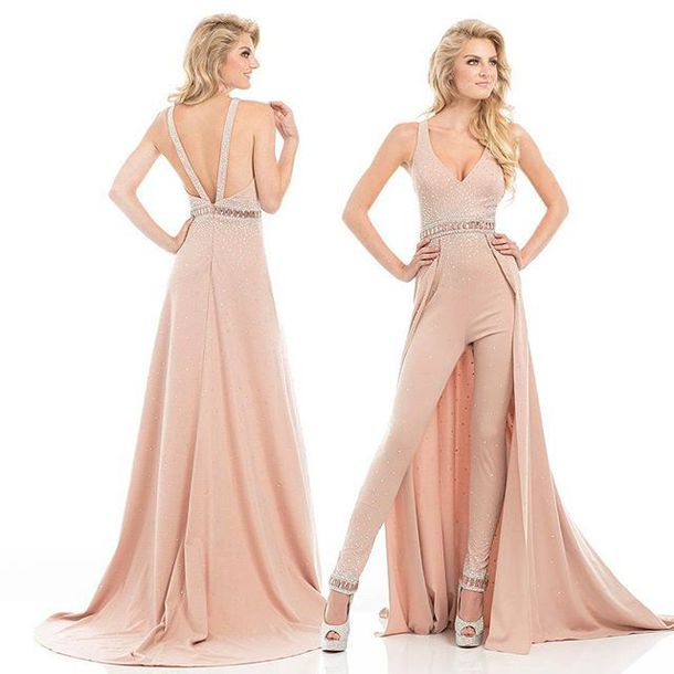 13334a1cd86 jumpsuit prom jumpsuit dress prom dress rose pink jumpsuit pink dress  homecoming