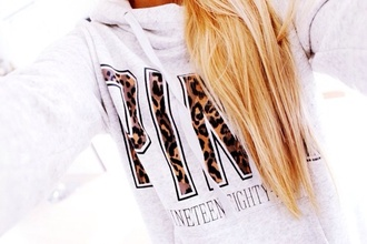 sweater pink tiger print jacket