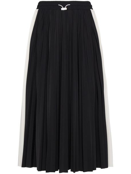 Valentino skirt midi skirt pleated women midi spandex lace black