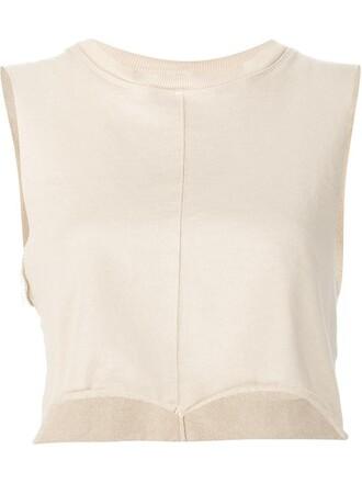 vest cropped women nude cotton jacket