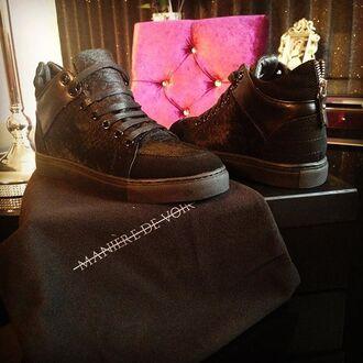 shoes maniere de voir fur pony snake suede sneakers
