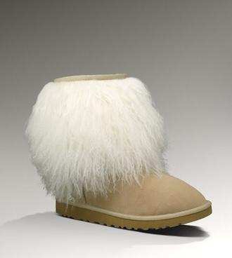 fur cuff fur boots