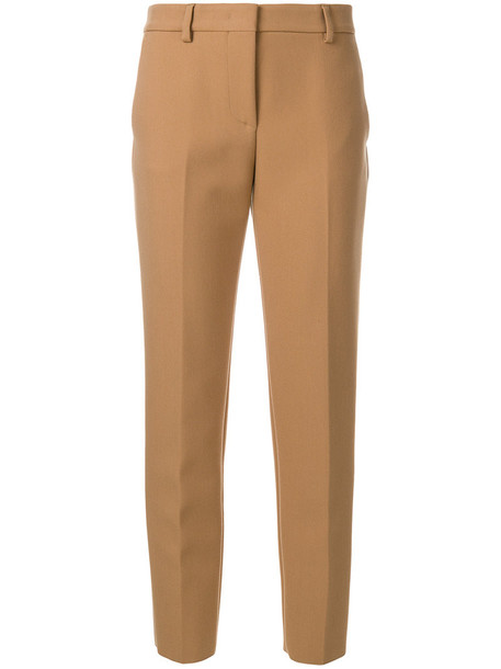 pleated cropped women spandex brown pants