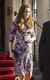 dress,floral,floral dress,maternity,kate middleton