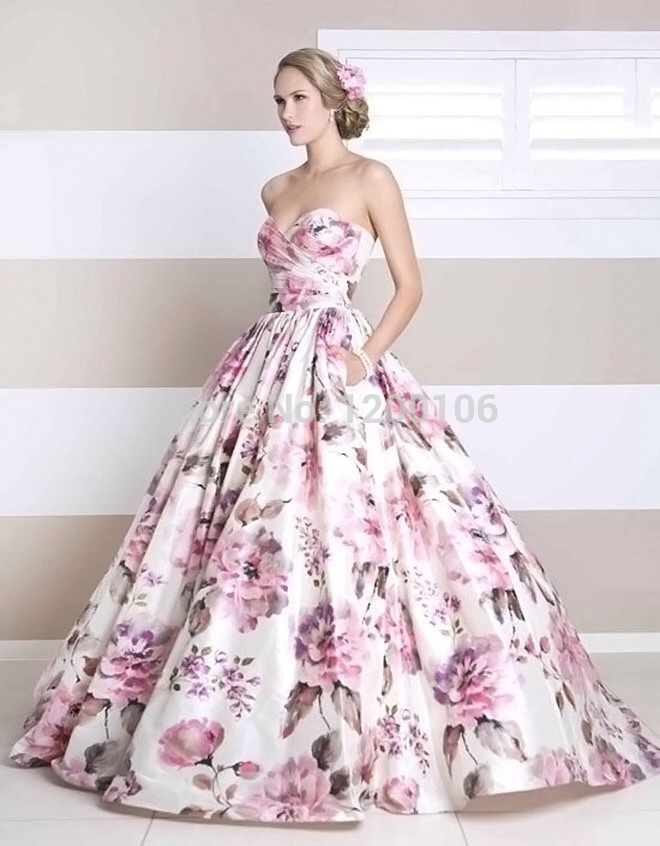 0db32a9dc Gorgeous Sweetheart Pink Embroidery Flowers Ball Gown Long Evening Dresses  2014 Vestido Longo-in Evening Dresses ...