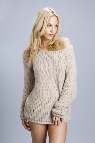 sweater off the shoulder sweater