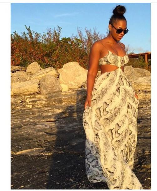 dress jewels ashanti maxi dress