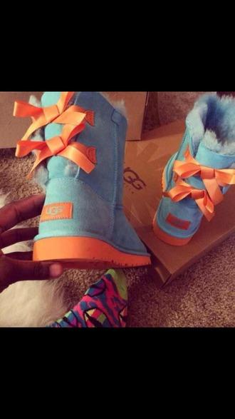shoes orange ugg boots