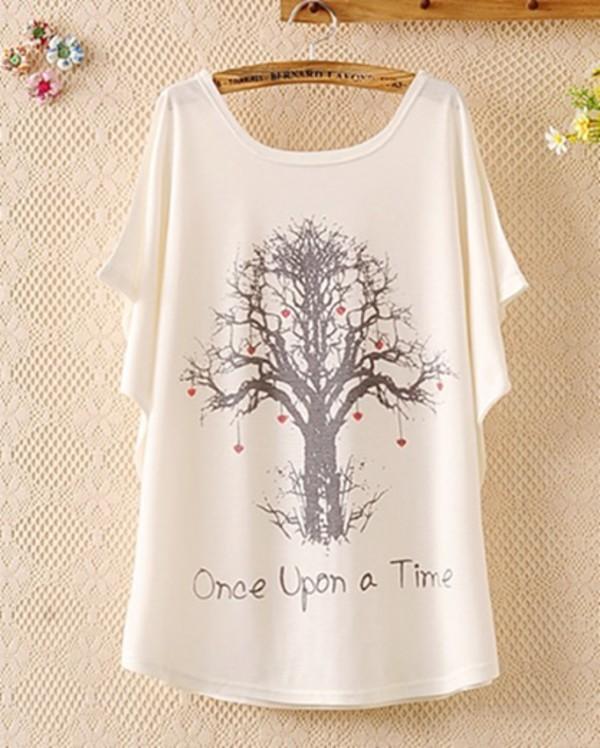 t-shirt white top très tree print once white t-shirt once upon a time show once upon a time
