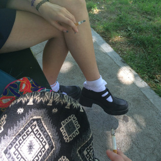 shoes grunge socks white black tumblr rad cool amazing school girl