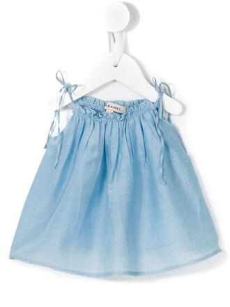 top vest top girl baby toddler blue