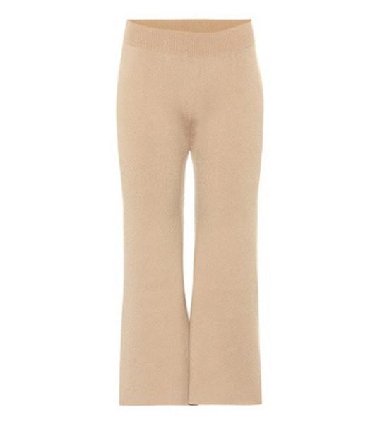 Ryan Roche Cashmere wide-leg pants in beige / beige